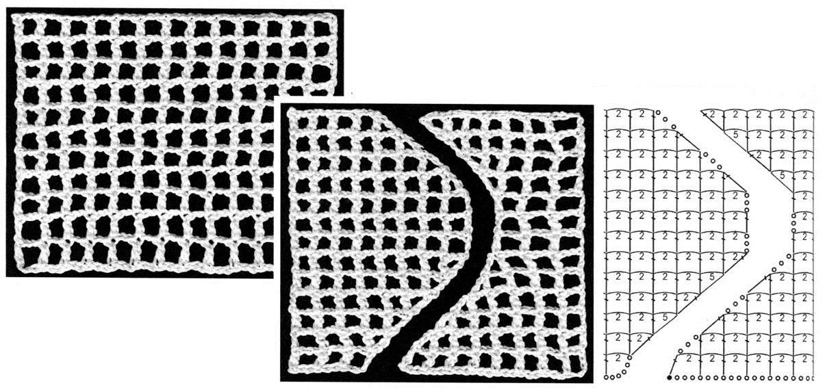 Филейное вязание сеточка 64