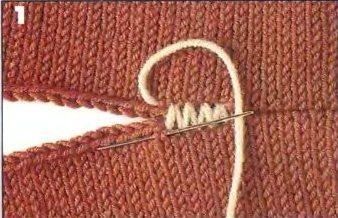 сшить швы при вязании