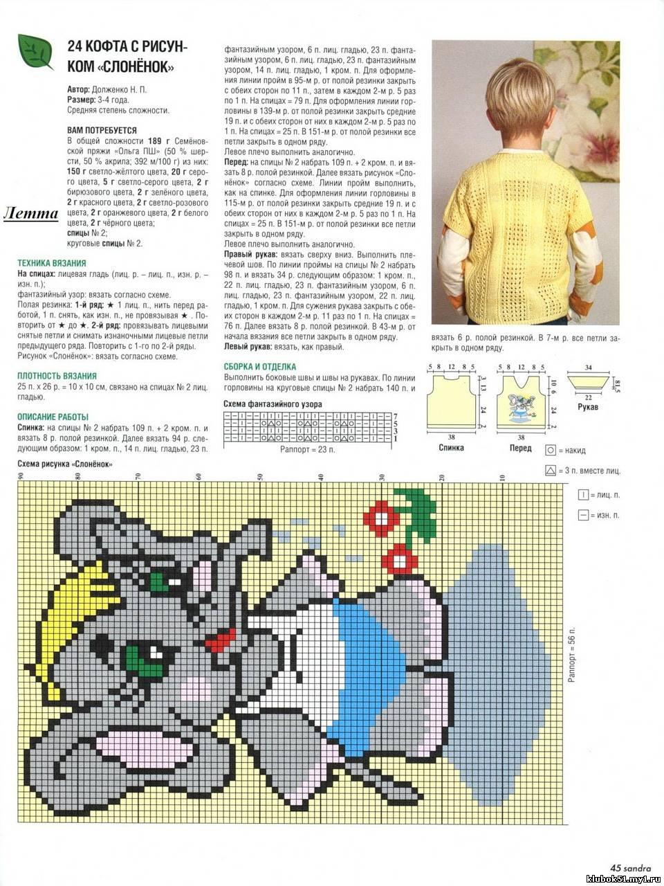Вяжем спицами с описанием и схемами детка