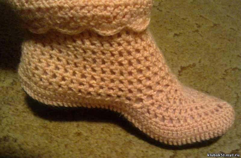 Домашние тапочки-носочки: