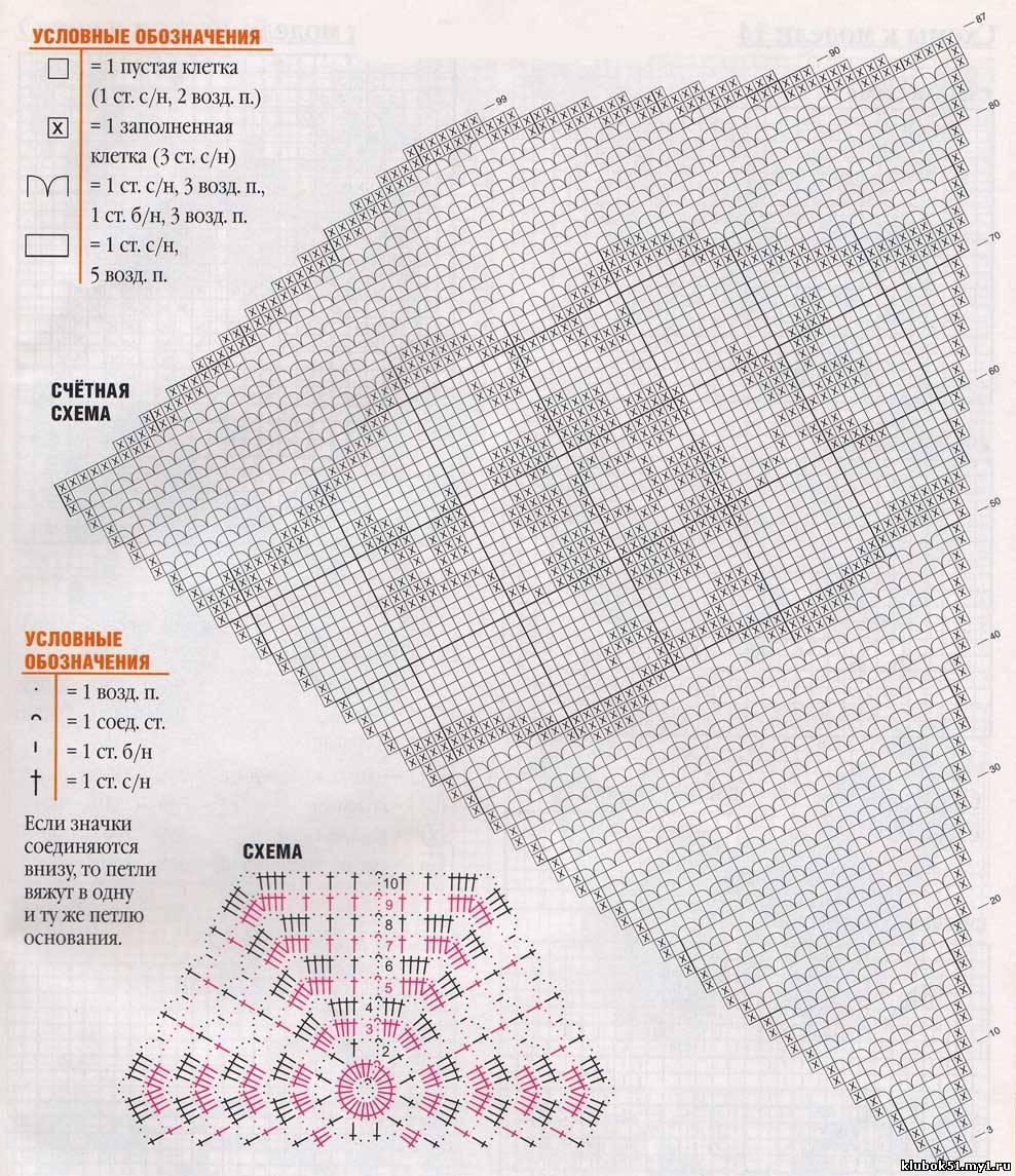Вязание крючком.филейное вязание схемы и описания
