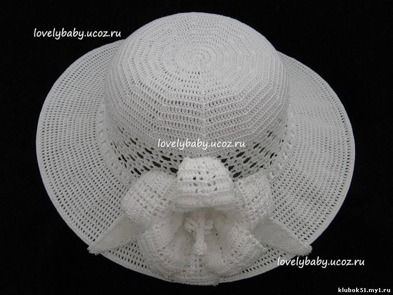 Вязание крючком шляпа с полями схема скачать без регистрации