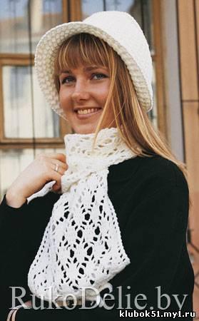Шляпка-капор и шарф,