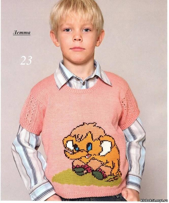 Вязание спицами, Одежда для детей.