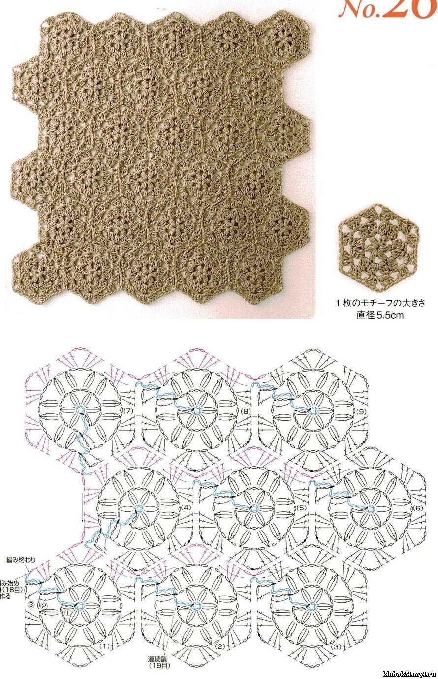 Uzor Japon crosh (вязание крючком) .