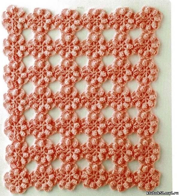 Описание: Узоры вязания крючком Схемы узоров для вязания крючком.