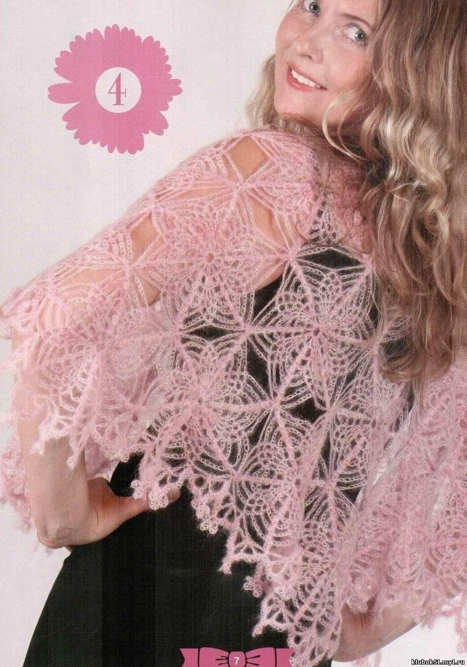 Японское вязание крючком схемы шалей