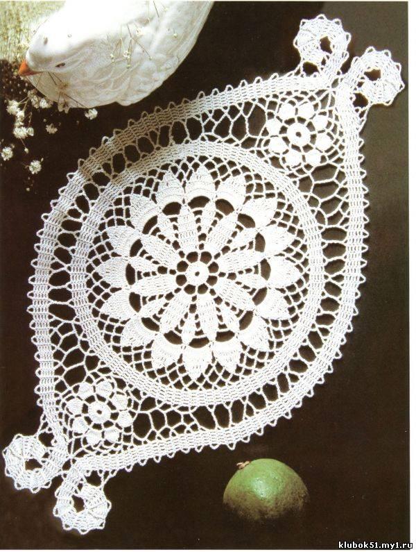 168 Схема салфетки брюггским