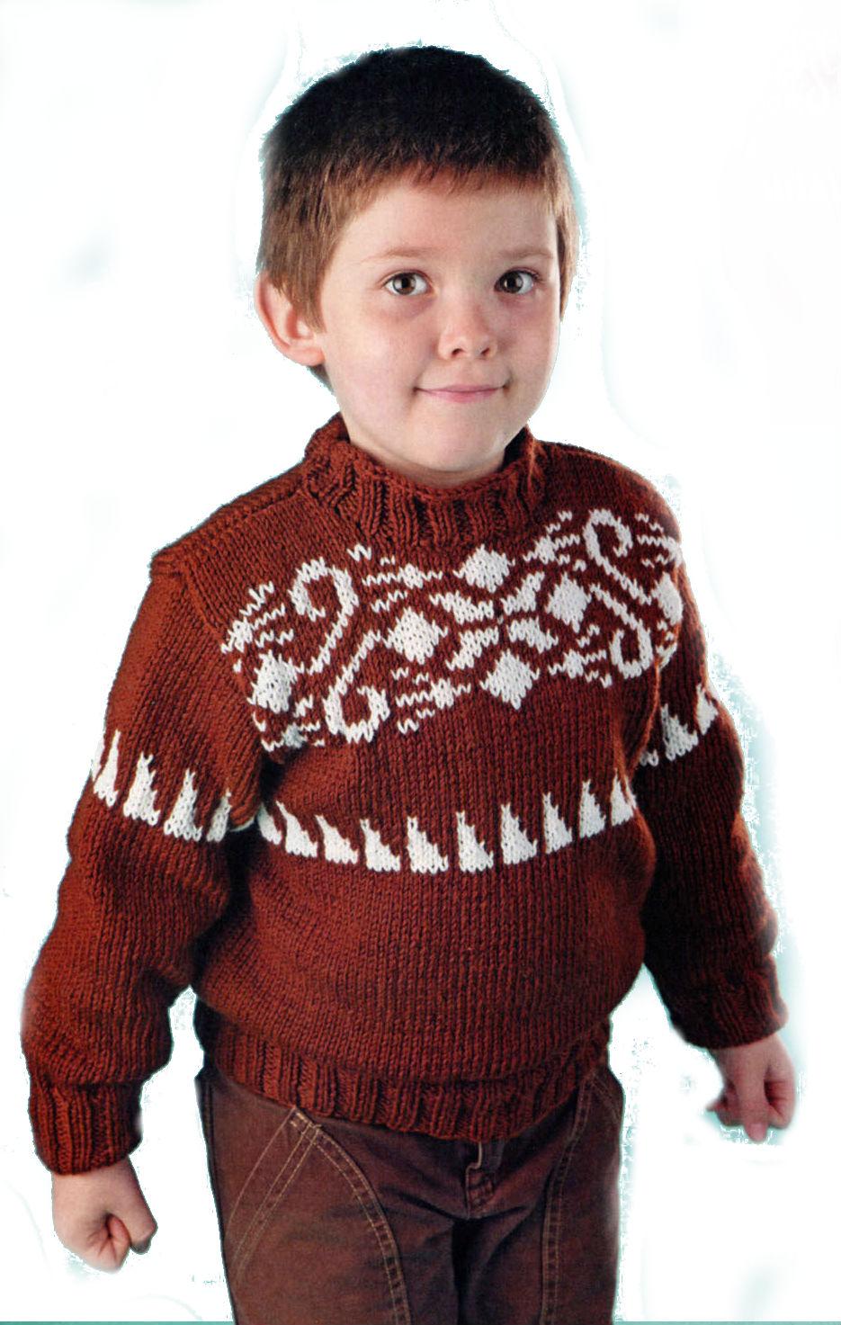 схема вязанного свитера мальчику