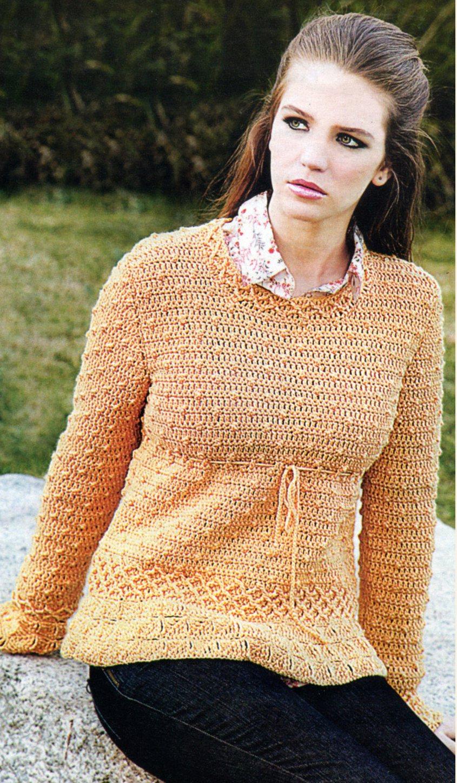 Фото вязаных крючком свитеров