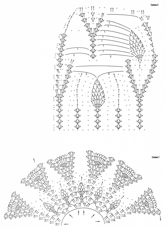 Вязание ажурный узор болеро