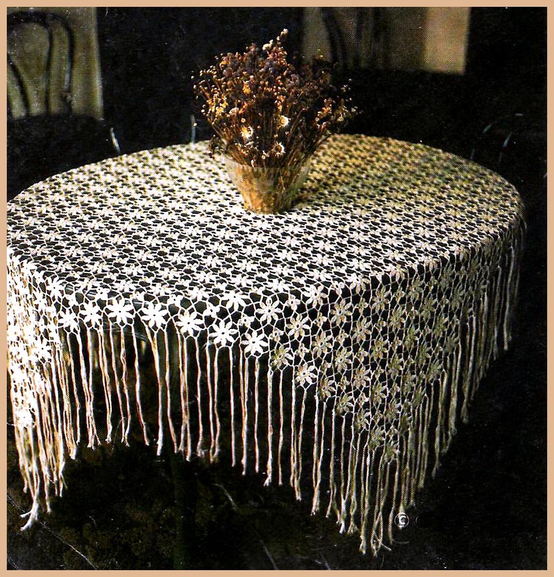 Скатерти и салфетки - Вязание крючком Идеи, узоры и схемы.