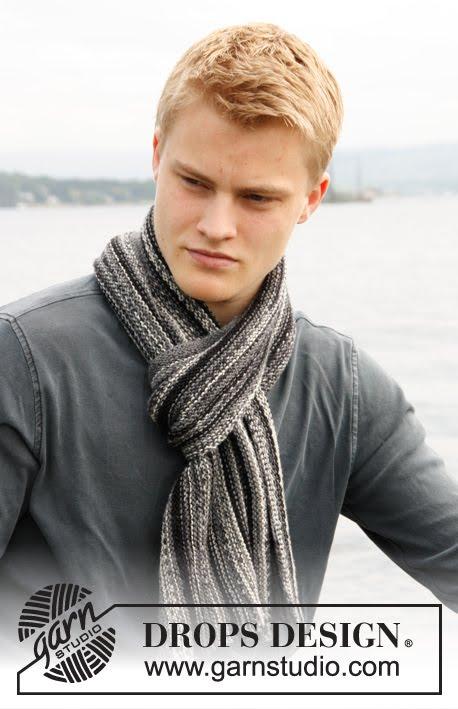 026 Вязаный мужской шарф из