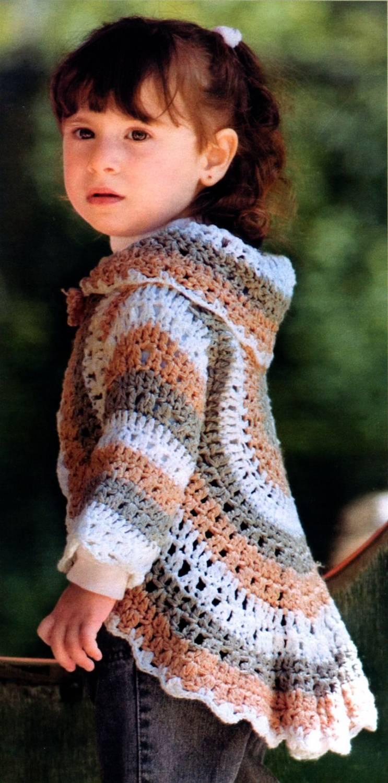 схема вязания спицеми жилетки на ребенка 2 года