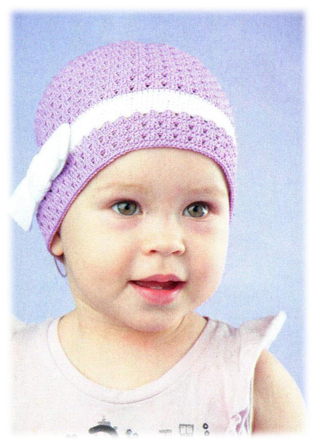 14 Шапочка для девочки вязание