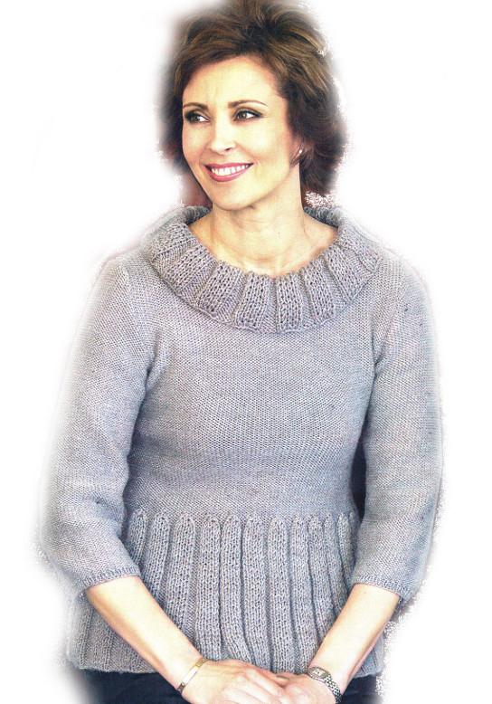 Вязание на спицах пуловеры с рукавом три четверти