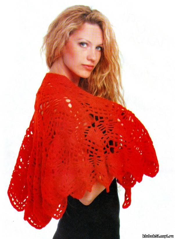 049 Шаль-накидка вязание