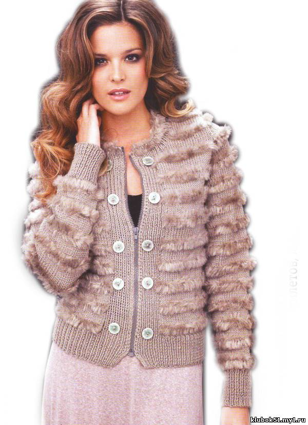 Вязание крючком куртка женская 7