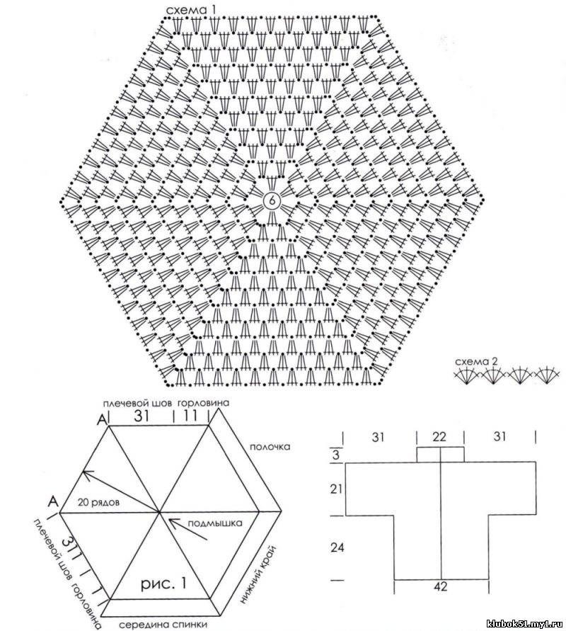 оба шестигранника по линии