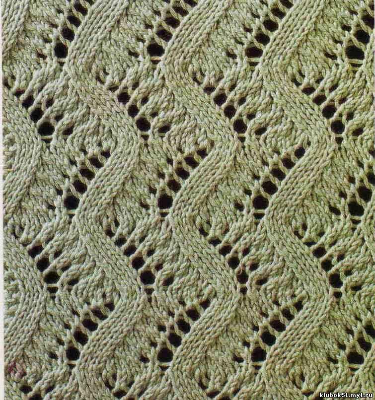Ажурные узоры для вязания спицами с описаниями