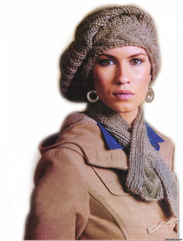 красивый узор для шарфа под шубу спицами схема