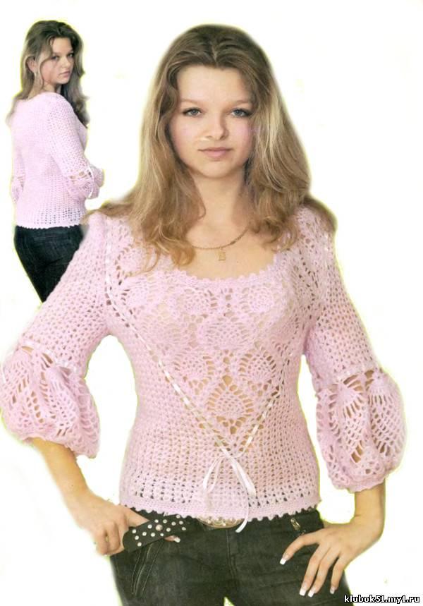 038 Жакет для девочкм вязание спицами и крючком