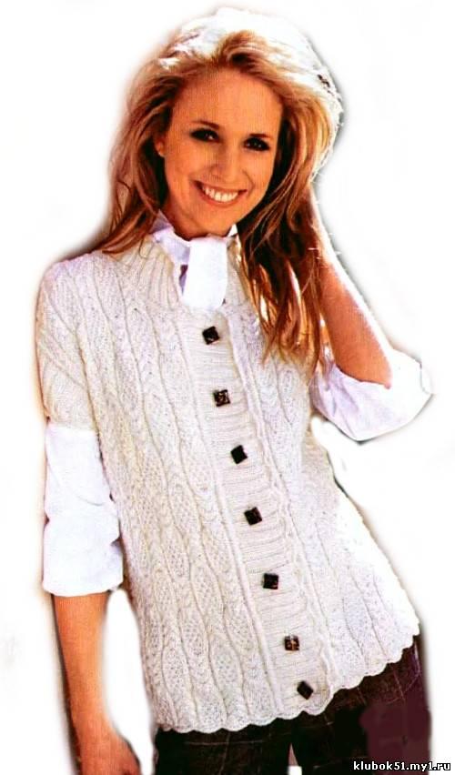 Энциклопедия вязания - Кофты, жилеты - вязание для женщин 6