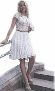 Платья короткое крючком