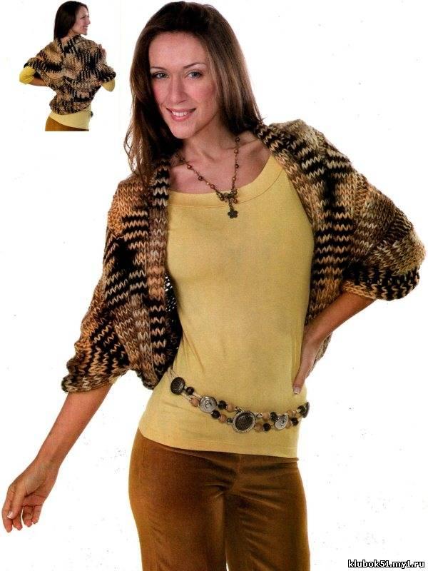 110 Меланжевый шраг вязание