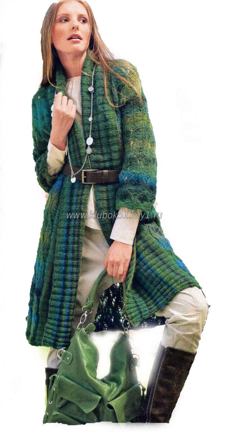 Вязание, пальто Наталья Корякина Простые схемы. Экономим время на 23