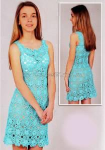Женские вязаные туники платья