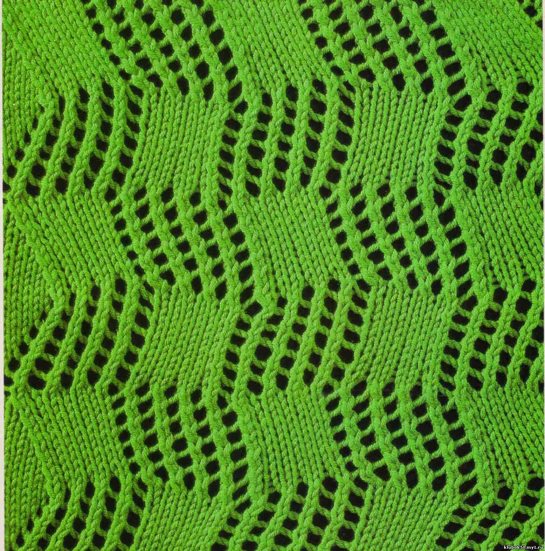 Описание: ажурные узоры спицами со схемами шарф.