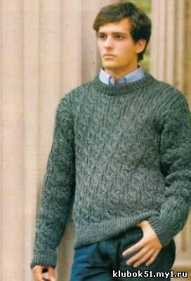 Описание и схема:, Вязаное для мужчин.