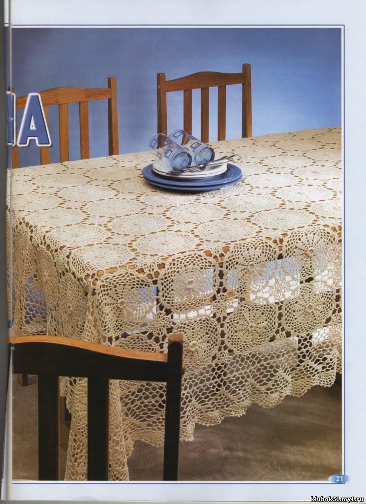 Комментарий: Вязание крючком схемы салфетки скатерти, вязаные кофты со...