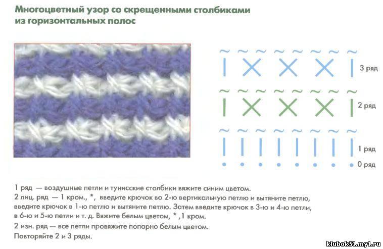 Схемы вязания крючком из вытянутых петель 556