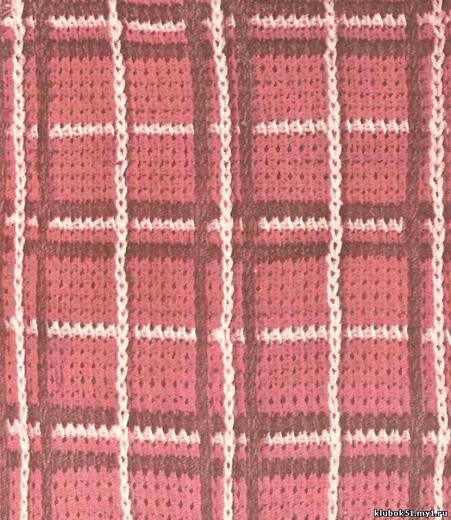 ажурное тунисское вязание