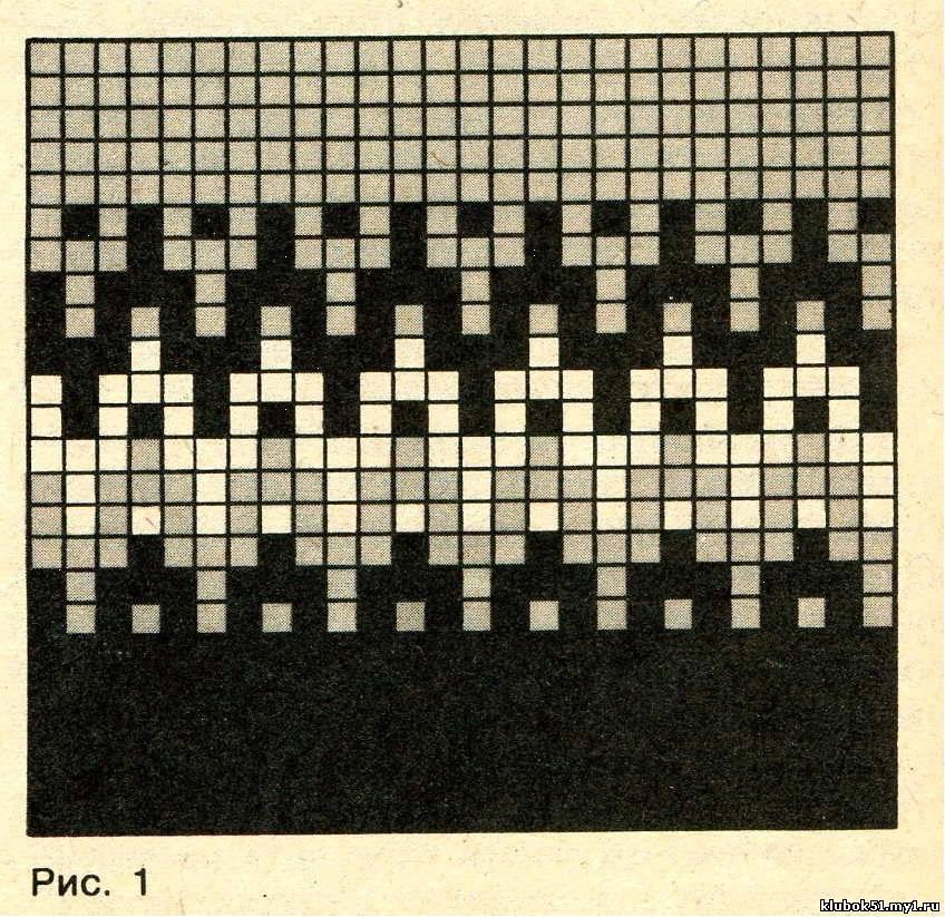 Мозаичное вязание спицами