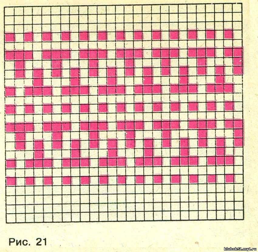Вязание жаккардовые узоры ленивые 76