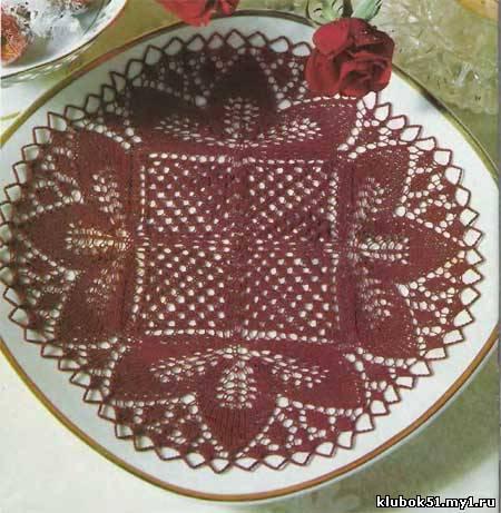 110 Схема салфетки спицами