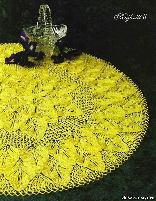 138 Схема салфетки спицами