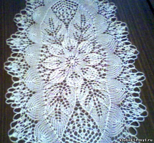 103 Схема салфетки спицами.