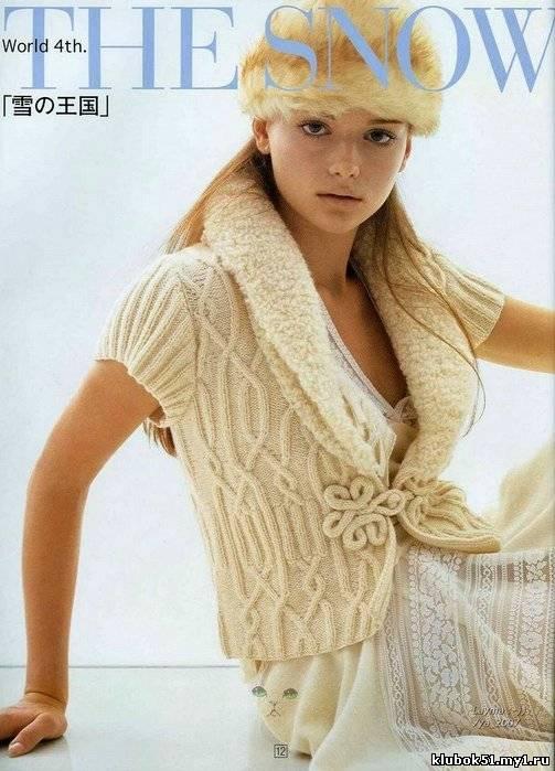 Японские модели вязания спицами с узорами