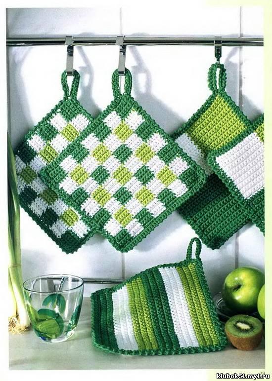 Вязание вещей для кухни крючком 36