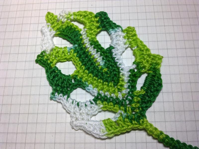 Вязание листика в ирландском