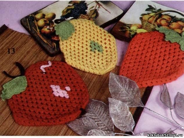 Схема вязания шапки растама.